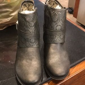 Corky's ( Brand New ) Pewter ZIP up Booties